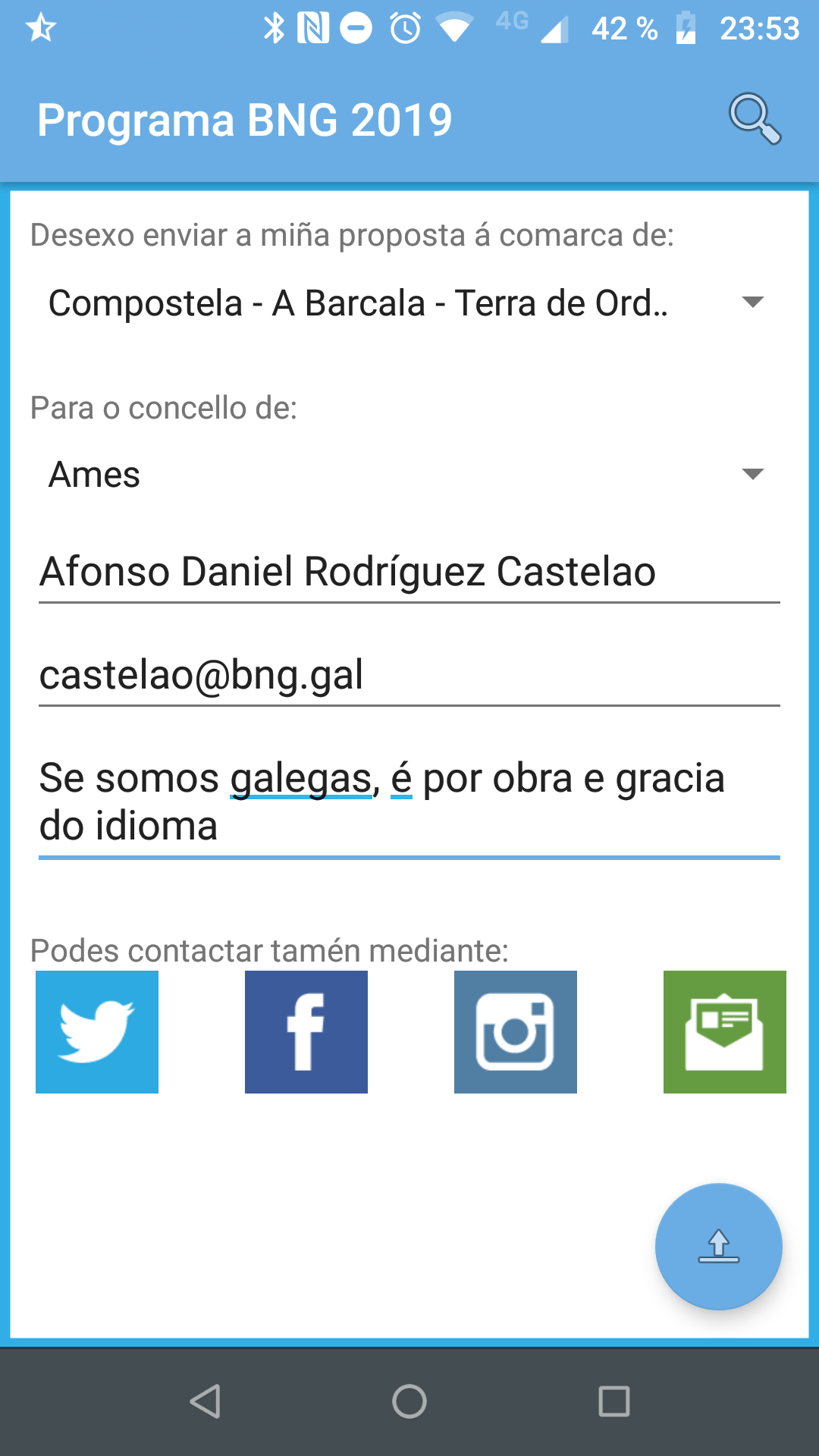 App Android do BNG de Ames